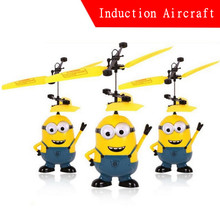 Free Shipping! Remote Control RC Helicopter Flying Despicable Me Minion Quadcopter Drone Ar.drone Kids Toy VS Fairy Doll x5c