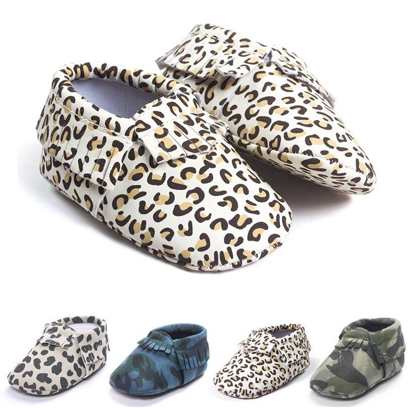 Leopard Baby Boys Shoes Newborn First Walkers Shoe Tassel Leather Children Moccasins bebe Girl Fringe Socks Fashion Slipper 0-2Y