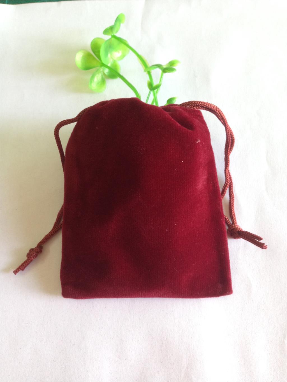 8*10 CM   High-grade Red  Black Velvet Bag Jewelry Bags / Jewelry Box Wholesale