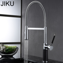 Spring Style Kitchen Faucet Brushed Nickel Faucet Pull Out Torneira All Around Rotate Swivel 2-Function Water Outlet Mixer Tap free shipping kitchen faucets with plumbing hose all around rotate swivel 2 function water outlet mixer tap faucet kitchen tap