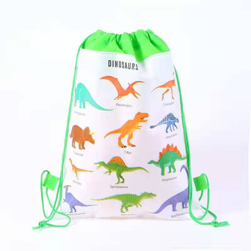 12pcs/lot Cartoon Dinosaur Unicorn Gift Bag Backpack Drawstring Bag Schoolbag Kid Birthday Party Supplies