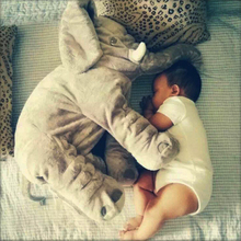 Retail Baby Elephant Plush Pillow Children Room Bedding Creative Decoration Cartoon Animal Elephant Cushion 45x23x53cm infantil