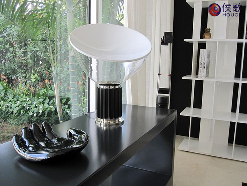 Taccia small desktable lamp 205 achille castiglioni style black taccia small table lamp 7 aloadofball Images