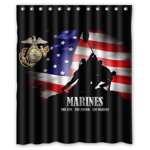 NEW products! Classic United States Marine Corps (USMC) picture for polyester Shower Curtain 60 x 72 Inches