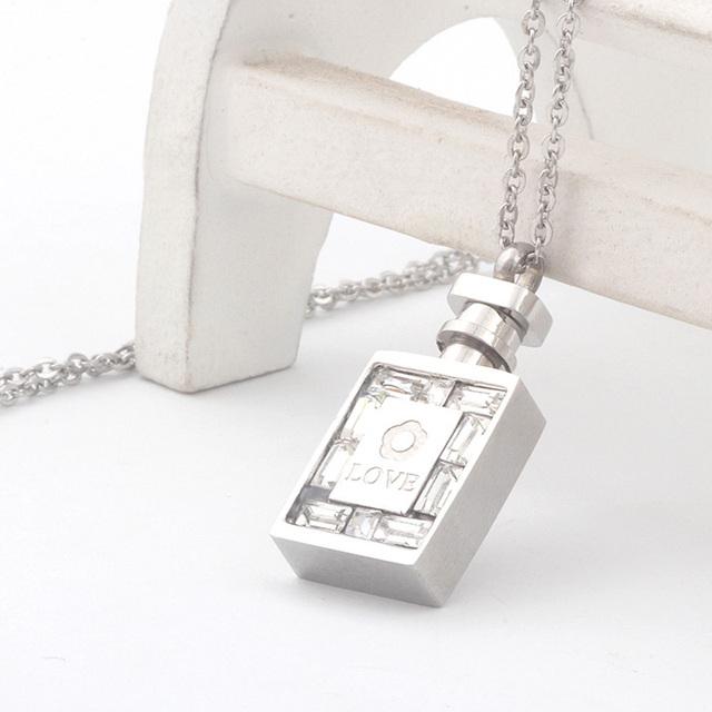 Austrian Crystal Perfume Bottle Necklace