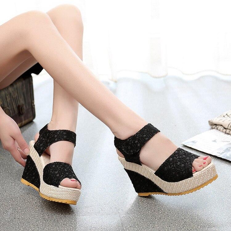 Aliexpress.com : Buy 2017 Summer Women's Sandals High Heels Wedges ...
