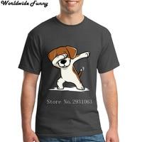 Deppen Beagle Grappige Hond mannen Aanpassen T-shirt Mannen Groep Tee Tops Stranger Dingen Katoen Hipster Tops Shirt Volwassen Plus Size