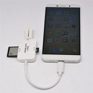 Image 4 - Baolyda typ C i micro USB i USB 3 w 1 czytnik kart OTG szybki USB2.0 uniwersalny OTG TF/SD na komputer z systemem android