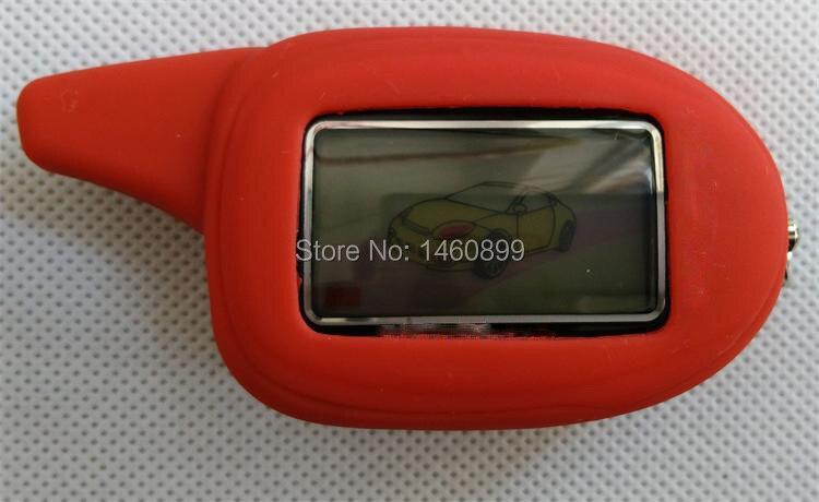 LCD Remote Controller <font><b>Key</b></font> Fob + Tamarack Silicone Case For Russian 2 way car alarm system Scher Khan M7,Scher-khan Magicar 7