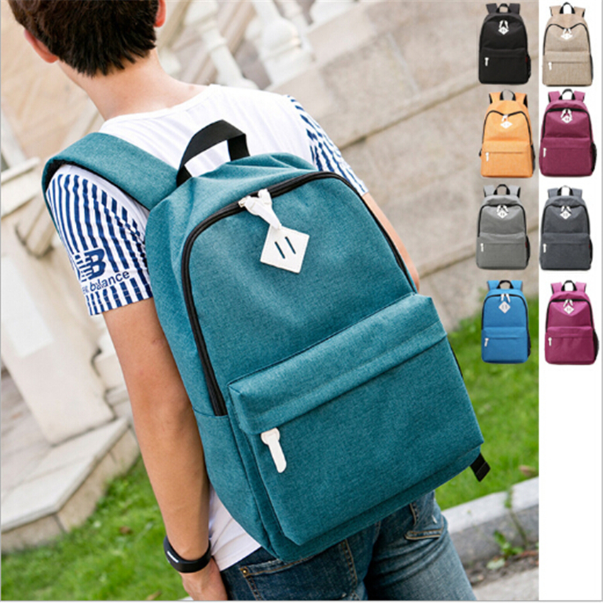 Dida Bear Fashion Canvas Backpacks Large School Bags For Girls Boys Teenagers Laptop Bags Travel Rucksack Mochila Gray Women Men #2