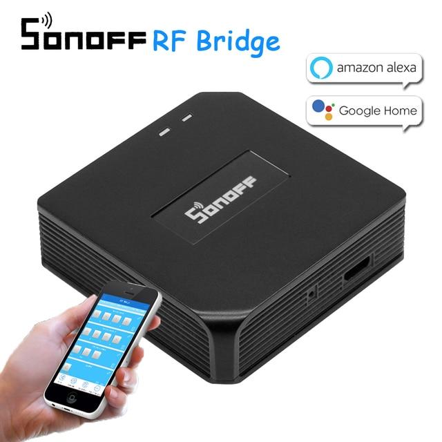 Sonoff RF Bridge WiFi 433 MHz reemplazo inteligente hogar automatización interruptor Universal inteligente Domotica Wi-Fi control remoto RF