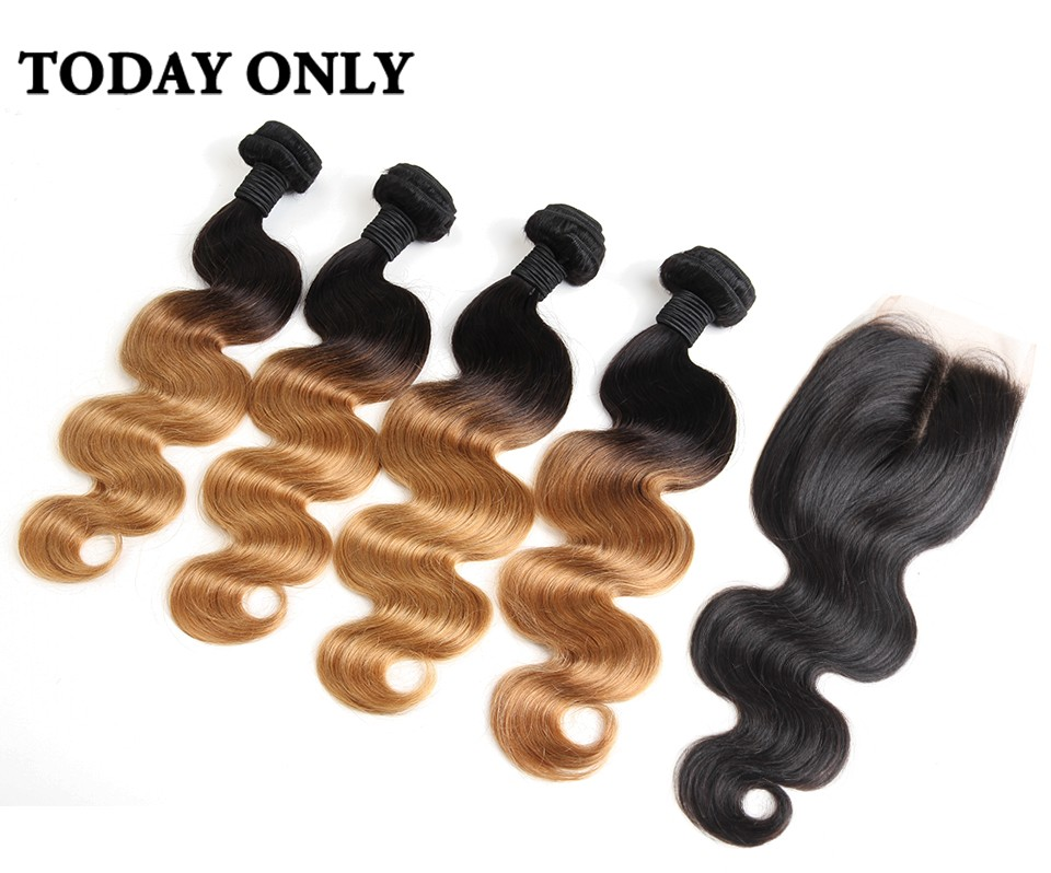 ombre human hair with closure