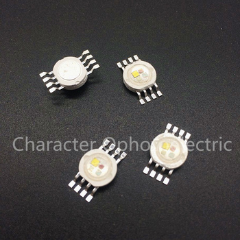 50PCS RGBW (RGB+WW) 4*3W 12W LED Lamp Emitter Diodes For Stage Lighting High Power LED 45mil Epistar LED Chip