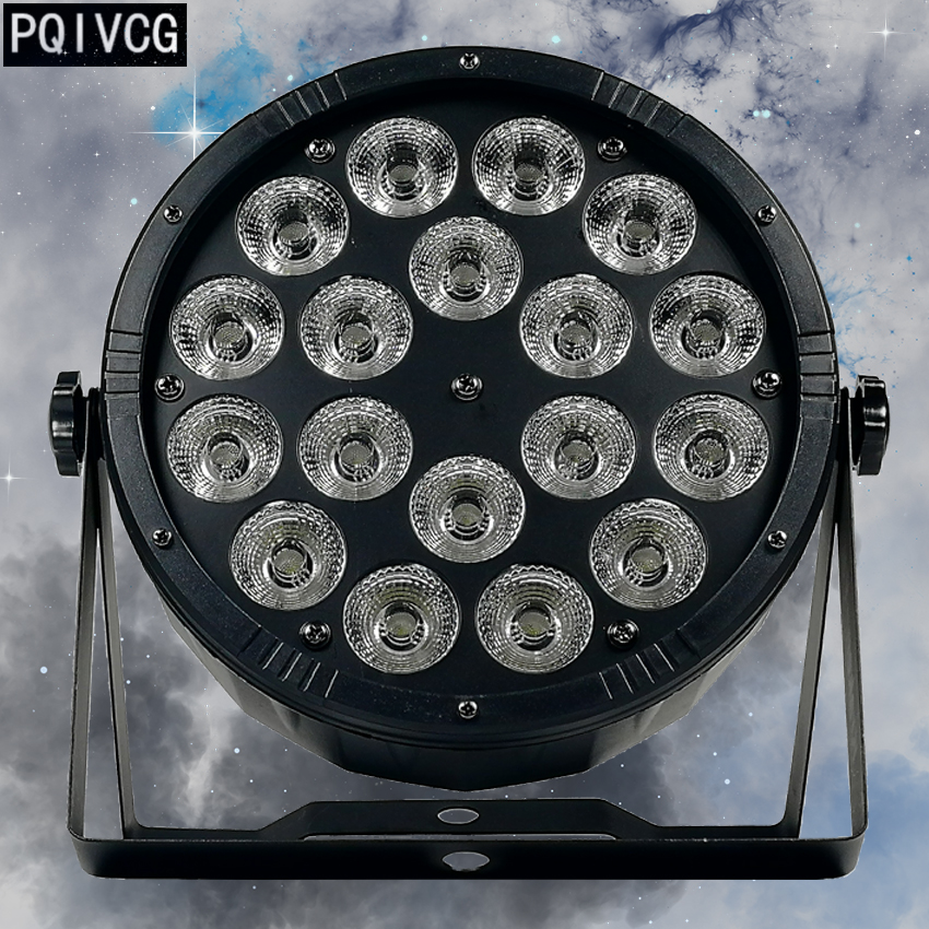 Large lens 18x12w led par light rgbw 4 in 1 dmx512 plastic par light professional stage
