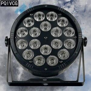 Image 1 - A grande lente 18x12w conduziu a luz da paridade rgbw 4 em 1 dmx512 plástico par luz profissional da fase dj luz