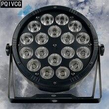 Новый продукт! Большой объектив 18×12 w led par свет rgbw 4in1 dmx512 пластиковые номинальной света профессиональный освещение для сцены
