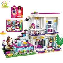 Princess Girl Series Поп-звезда Livi's House DIY Building Block Совместимые Legoed Aminal Figures Игрушки для Popsie Girl Friend Dress