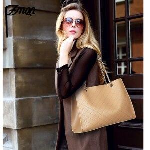 Image 5 - ZMQN Leder Taschen Für Frauen 2020 Luxus Handtaschen Frauen Taschen Designer Große Tote Hand Tasche Kette Leder Handtasche Set Bolsa feminina