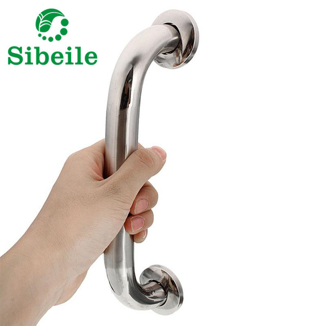 SBLE Chrome Polished 304 Stainless Steel Bathroom Bathtub Handrail Safety  Toilet Support Rail Disability Aid Grab