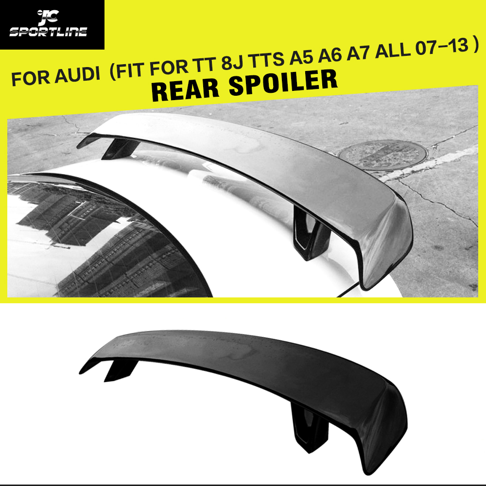 FRP Unpainted Grey Primer AP Style Rear Trunk Spoiler, Universal Auto Boot Lips For Audi A5 A6 A7 (Fit For Audi All CARS ) 2007 bmw x5 spoiler