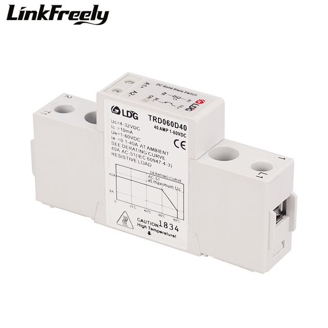 US $10 06  TRD060D40 40A Mini DC DC Solid State Relay Bank 4V 5V 12V 24V  32VDC Input Output 1 60VDC Electrical Voltage Relay Module &Board-in Relays
