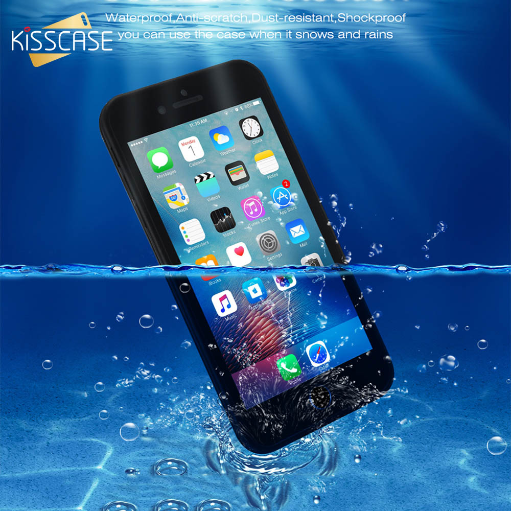 Kisscase Soft Tpu Waterproof Phone Case For Iphone 6 6s 7 8 Plus 5 5s 5se Kickstand Series Blackblack Se Perfect Screen Touch Cover In Fitted Cases From