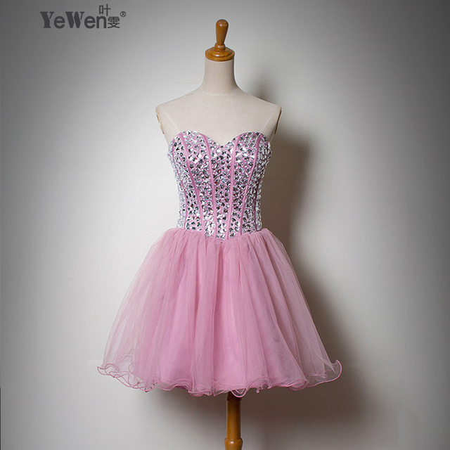 ee07d261d8b43 Free Shipping Sweetheart new crystal short Evening dress 2016 Celebrity  party Dresses ball gown Cocktail dresses-in Celebrity-Inspired Dresses from  ...
