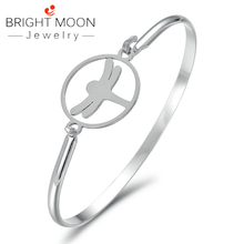 Bright Moon Trendy Animal Bracelet Stainless Steel Jewelry Men Cuff Silver Color Bangles Luxury