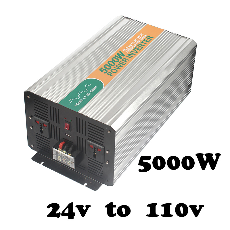 цена на watt inverter 5000w,24 volt dc to 110 volt ac from China 5000W off grid modified sine wave inverter 5000