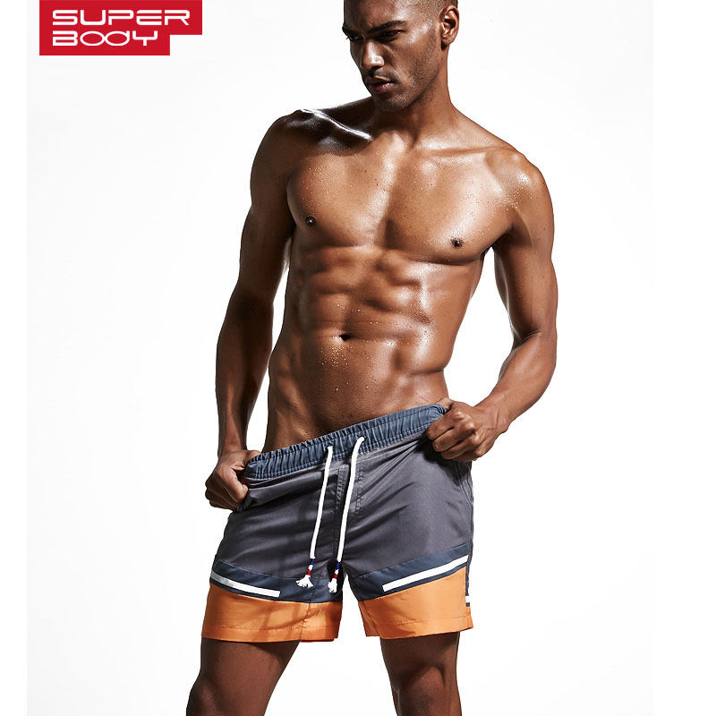 New Brand Superbody Men's swimwear   shorts   summer beach pants   Board     Shorts   Size M,L,XL,XXL ST170701