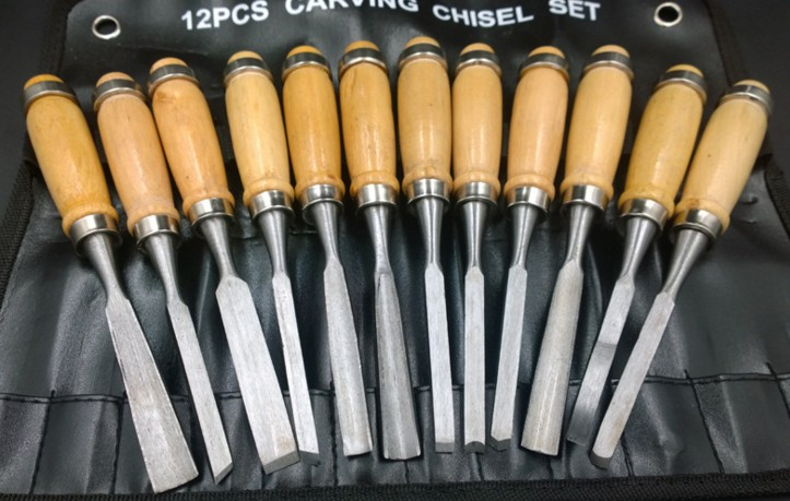 12 pieces of woodworking carving knife tools root  carvings carved chisel wood carving knife woodworking chisel set  цены
