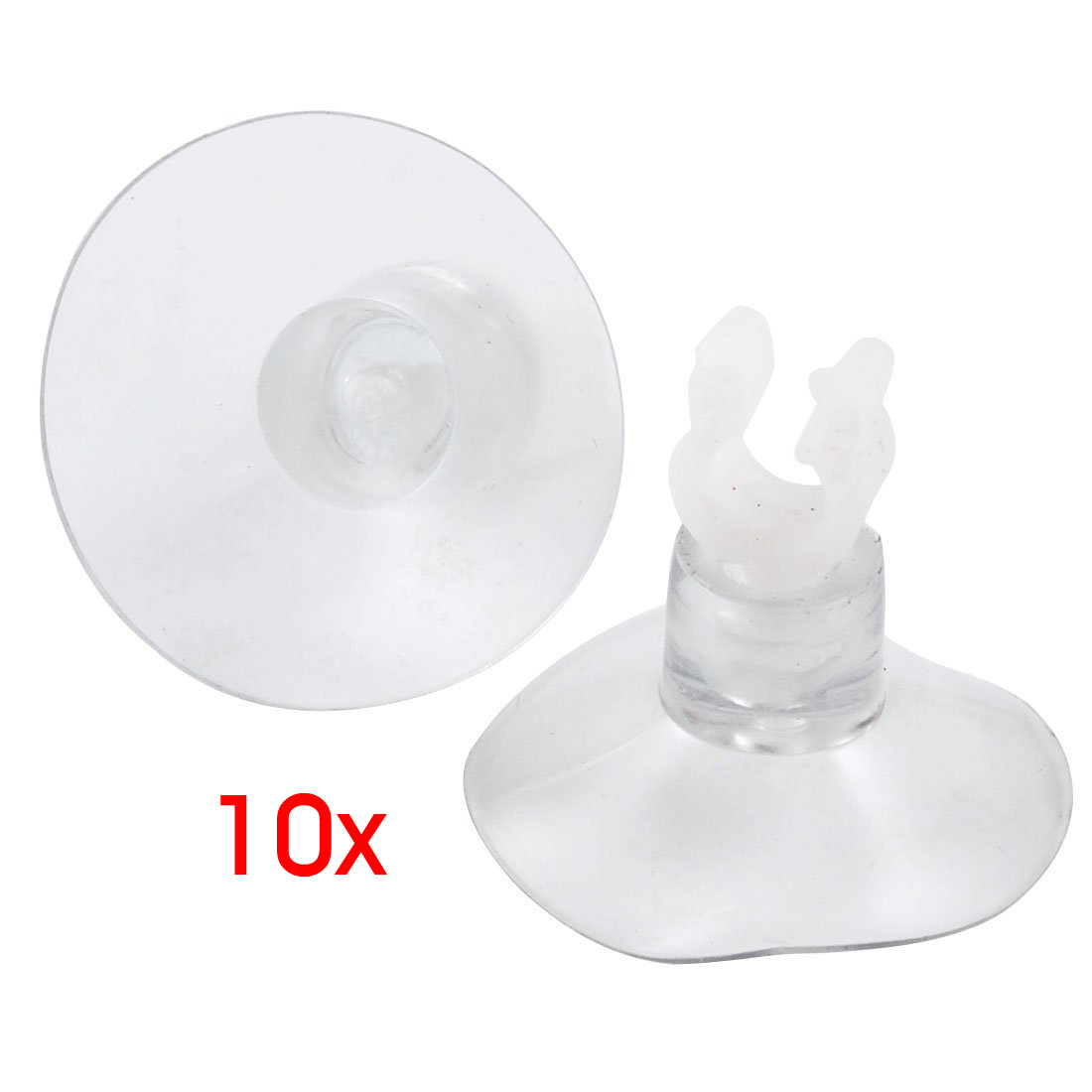 10pcs//Pack Promotion Fish Aquarium Clear Suction Cup Airline Tube Holders Clamps