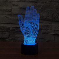 Amazing Magical Optical Illusion 3D LED Night Light Hands USB Table Light Novelty Lighting Lamp Atmosphere