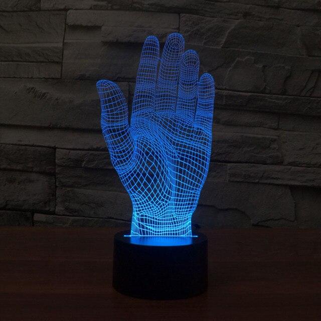 Amazing Magical Optical Illusion 3D LED Night Light Hands  USB Table Light Novelty Lighting Lamp Atmosphere Lights