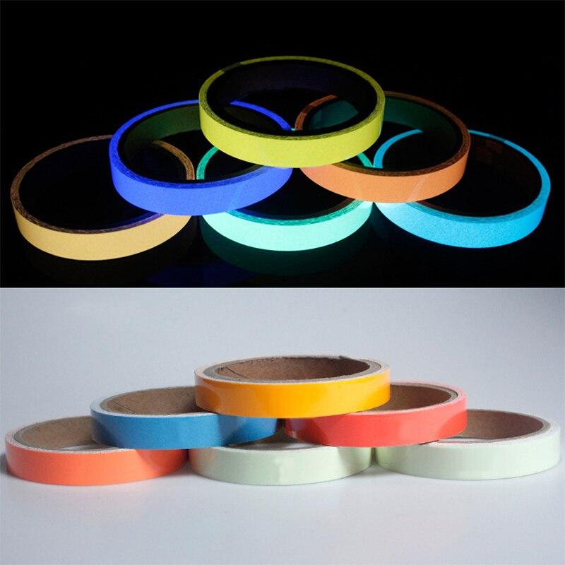 Fashion Glow In Dark 1PC Luminous Tape Night Vision Wall Sticker Self Adhesive Fluorescent Warning Tape Emergency Sticker