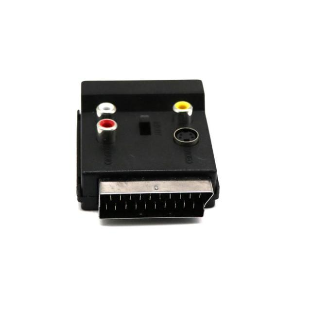 Adaptateur péritel commutable prise à prise avec s-video + 3 RCA_KXL0817