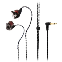 AuGlamour R8 Single Moving Coil Metal Stereo HiFi Cord Removable In Ear Earphone