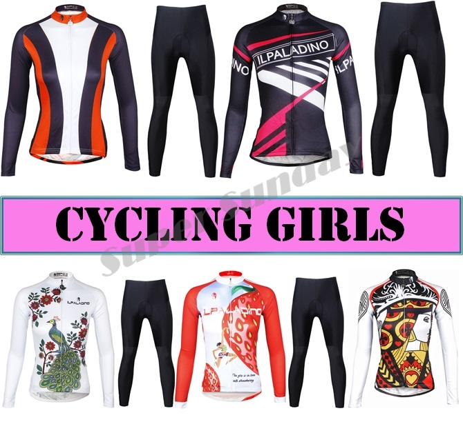 Top Quality Women's Team Cycling Jerseys Woman Cycling Jersey Fleece Optional Female Long Sleeve Sports Wear Free Shipping top quality motorcycle team graphics