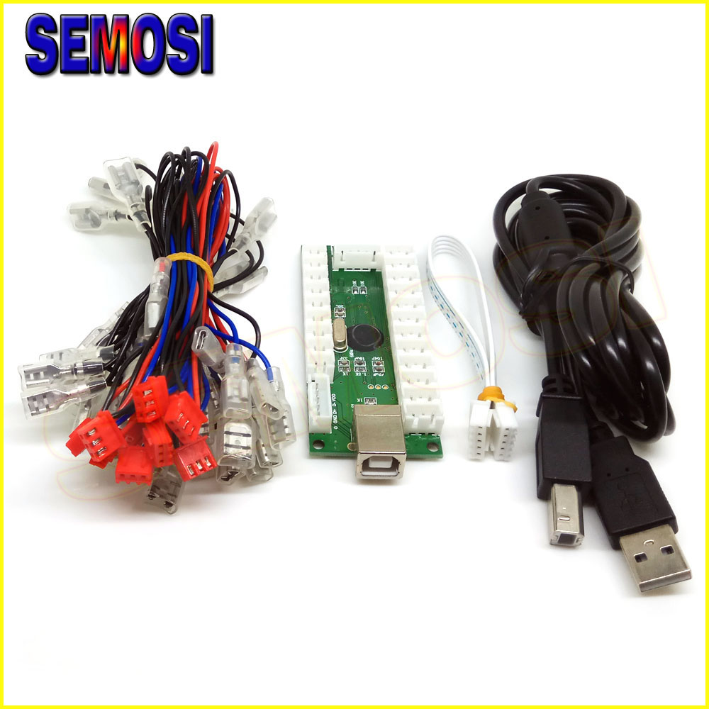 US $11 13 7% OFF|Zero Delay USB Encoder To PC Games for Arcade Sanwa  Joystick & LED Buttons Kits Parts 5 Pin Stick for Raspberry Pi 1/2/3/3B  Sp3-in