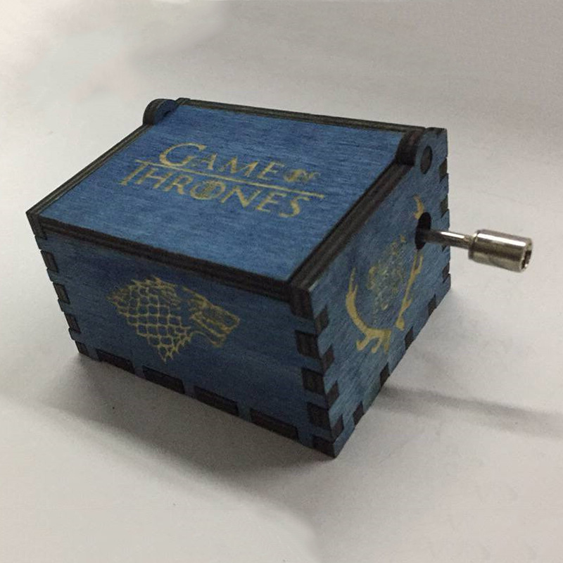 harri potter Game of Thrones Star Wars Hari Potter Merry Christmas Theme Handmade Engraved Wooden Music Box Crafts Cosplay image