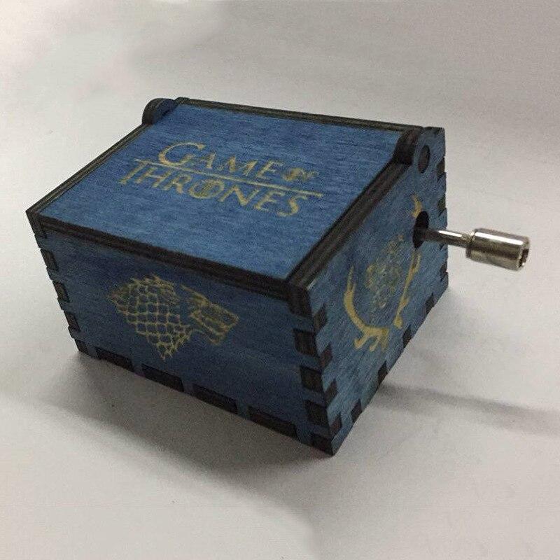 harri potter Game of Thrones Star Wars Hari Potter Merry Christmas Theme Handmade Engraved Wooden Music Box Crafts Cosplay