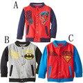 Бейсбол прилив мужской дети супергерой человек-паук пальто Дети воротник в длинный рукав блузка внешней торговли одежды