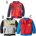 baseball tide male children superhero spider-man coat collar Children in long sleeve blouse foreign trade clothing
