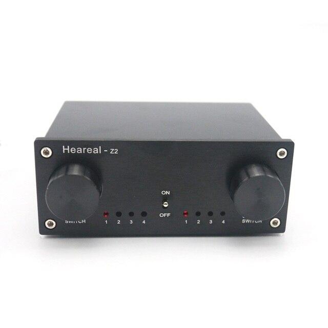 4 קלט 4 פלט Lossless אודיו אות Switcher מתג ספליטר בורר DC 12V