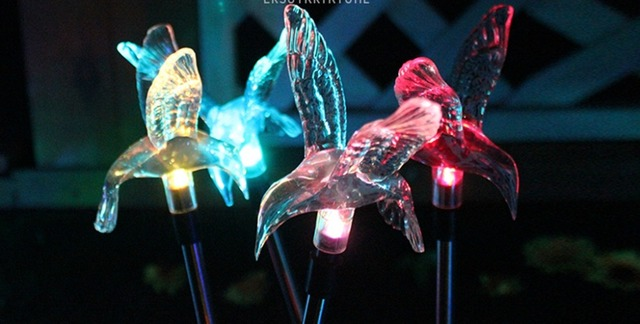 Action Solar Lampen : Led buitenverlichting solar lampen vogels lamp kleurrijke gazon lamp