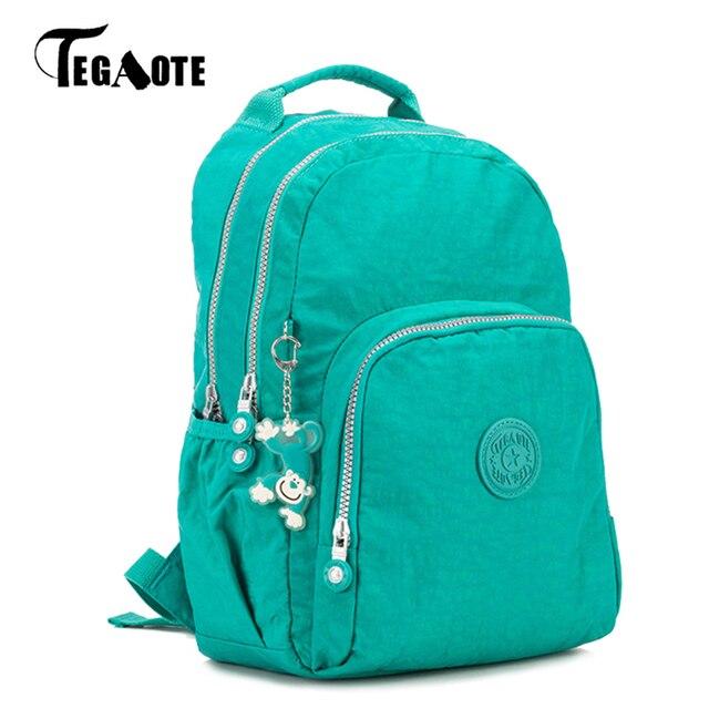 d7dd065014168 TEGAOTE pequeña Mochila para niñas adolescentes Mochila femenina Mochila de  nailon impermeable bolsa de viaje para