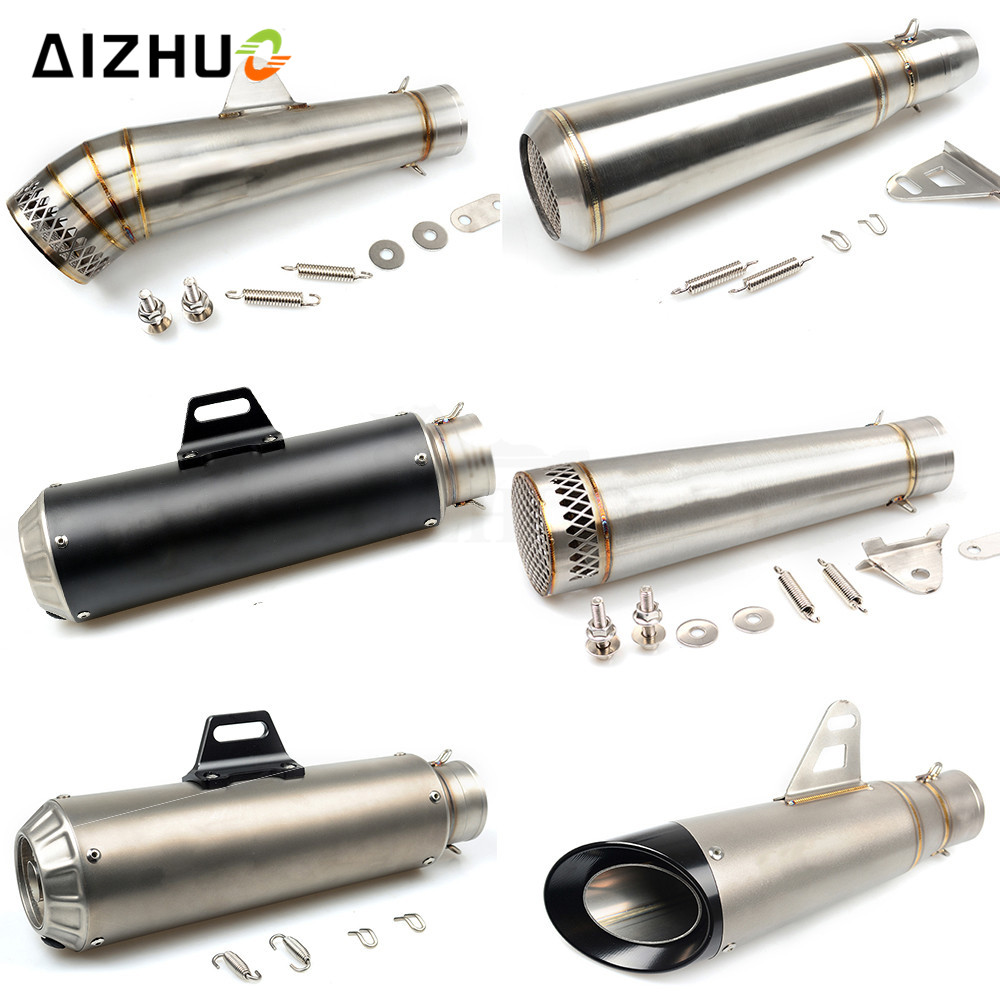 36-51MM Motorcycle Universal Exhaust Pipe Muffler FOR honda dio vfr 800 cb400 pcx 125 nc750x shadow 750 CBR 600 F2 F3 F4 F4i 36 51mm motorcycle universal exhaust pipe muffler for suzuki sv650 gsf katana hayabusa honda shadow 600 750 1100 cbr 125r