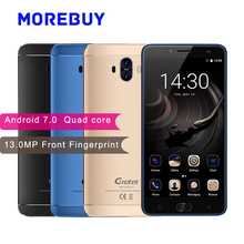 "Гретель GT6000 смартфон MT6737 Quad Core 1.3 ГГц Android 7.0 Móviles 6000 мАч 13MP 5.5 ""IPS 4 г спереди отпечатков пальцев телефона"