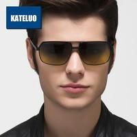 KATELUO Day Night Vision Men Square Sunglasses Polarized Gradient Lens Alloy Male Glasses Frame Eyewear Male oculos de sol 8549