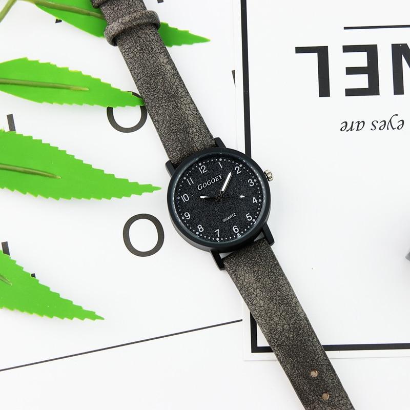 Gogoey Top Brand Women's Watches Fashion Leather Wrist Watch Women Watches Ladies Watch Clock Bayan Kol Saati Reloj Mujer #4